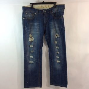 Addicted Soul Motors Jeans 38x29 Ripped Whiskered